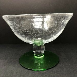 Glass Compote Pedestal Bowl 9.5″ Made In Italy